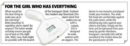 Inventaram um vibrador-despertador, o Little Rooster