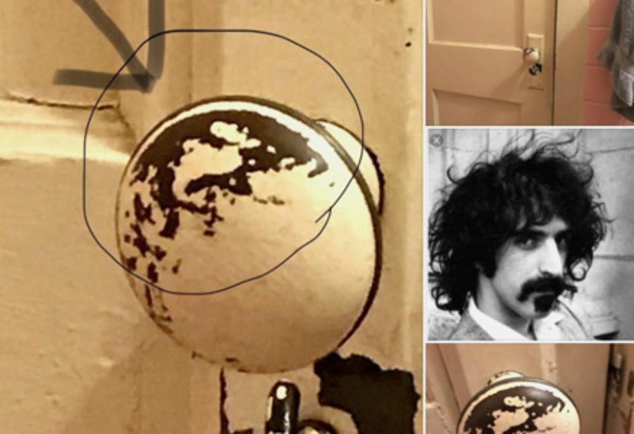 Já pegou na maçaneta do Frank Zappa?