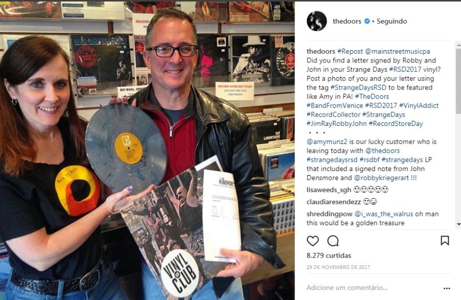 Os Doors estão mandando tão bem no Instagram que nem parece que a banda acabou