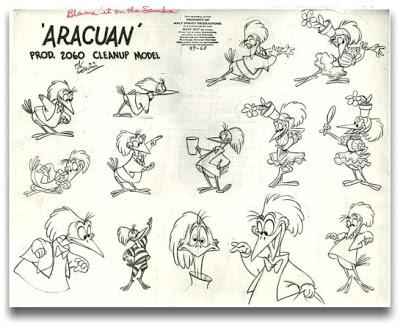 O pássaro Aracuã da Disney cantando por duas horas
