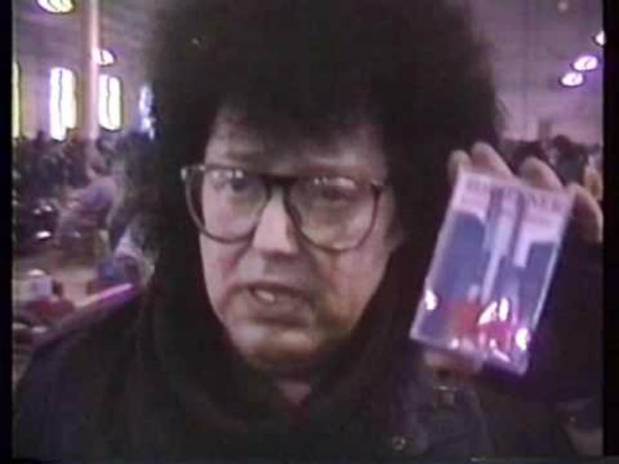 Rob Tyner em 1990/1991 lançando seu único disco solo, Bloodbrothers