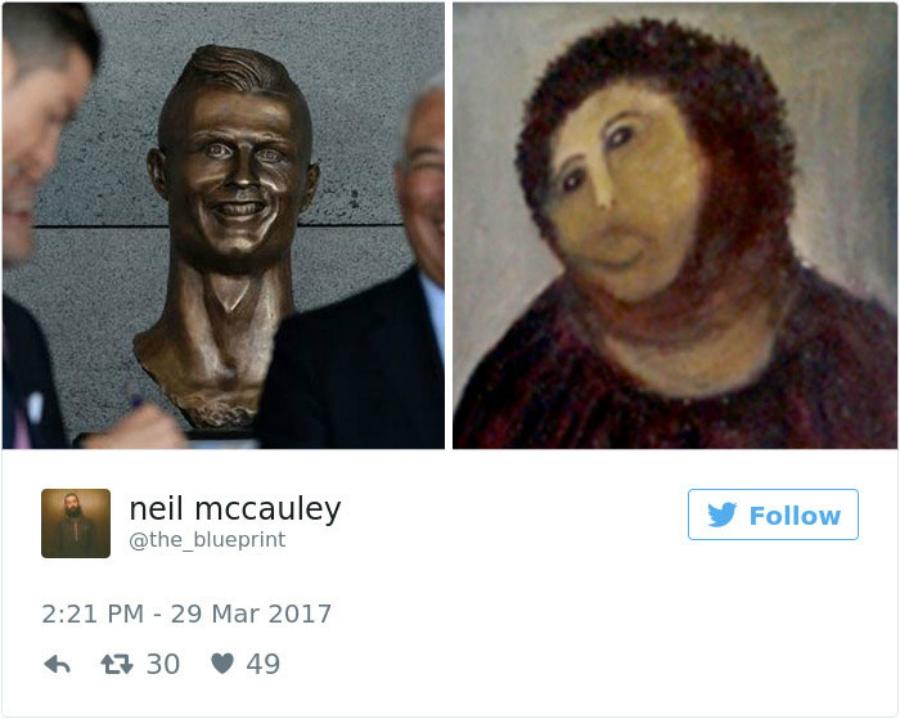 A evolução (e os bastidores) do busto de Cristiano Ronaldo