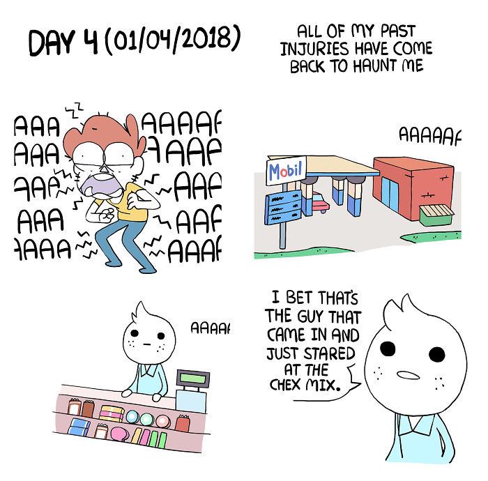 Um cara passou sete dias sem comer e fez uma história em quadrinhos sobre a experiência