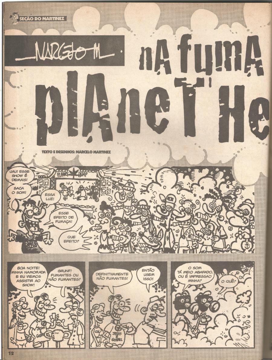 Em 1998, o Planet Hemp na capa da Mad
