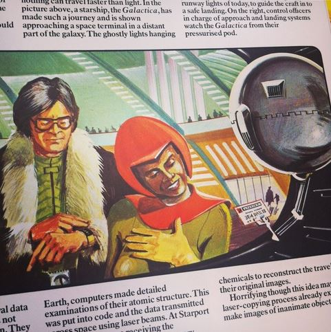 """Em 1973 o """"livro do futuro"""" da editora Usborne: olimpíada espacial e robôs em casa"""