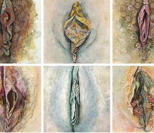 Jaqueline Secor: vaginas florais em quadros