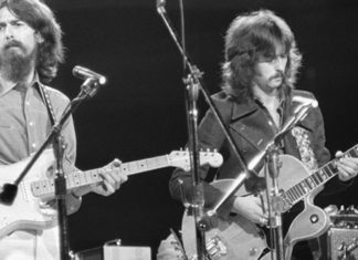 A guitarra isolada de Eric Clapton em While My Guitar Gently Weeps, dos Beatles