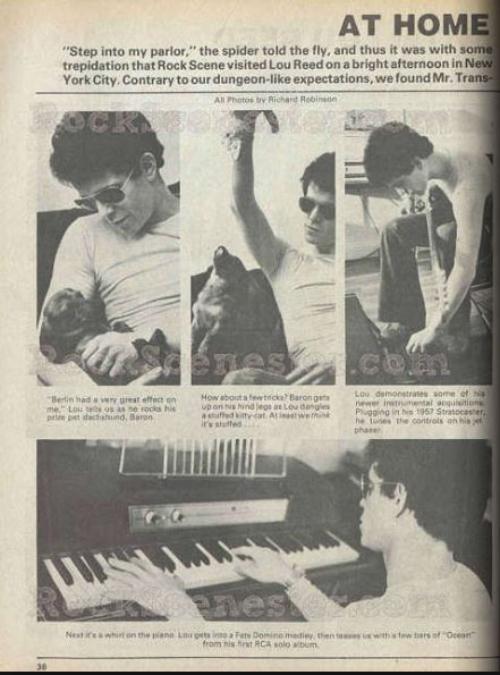 Em casa com Lou Reed