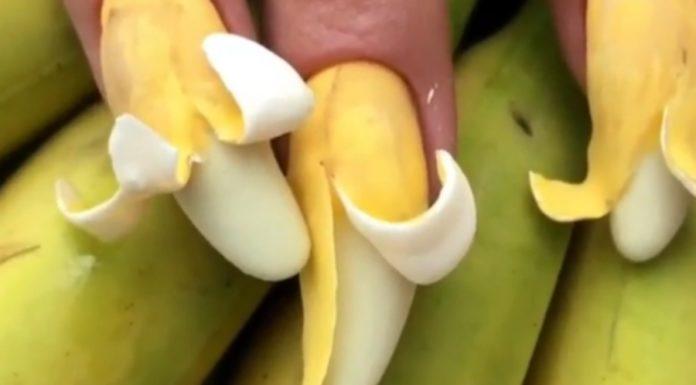 Tem um salão fazendo unhas no formato de bananas, as bananails