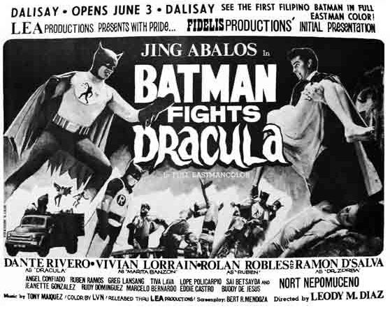 Batman fights Dracula: um filme filipino perdido de 1967