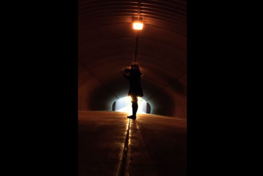 Executaram o tema de Star Wars num túnel