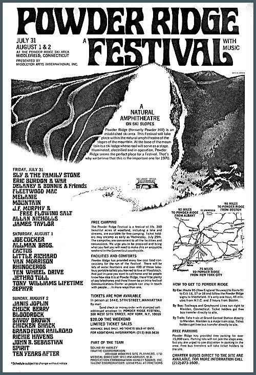 Powder Ridge: o festival de rock que nunca aconteceu