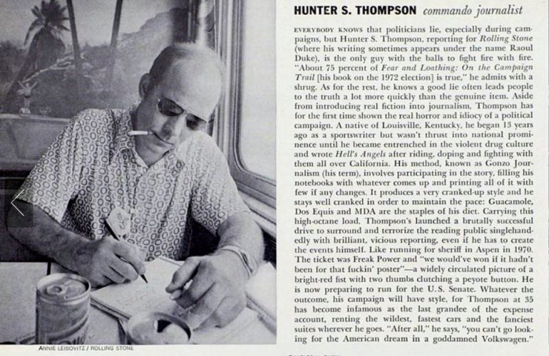 Hunter S. Thompson e sua cura para ressaca