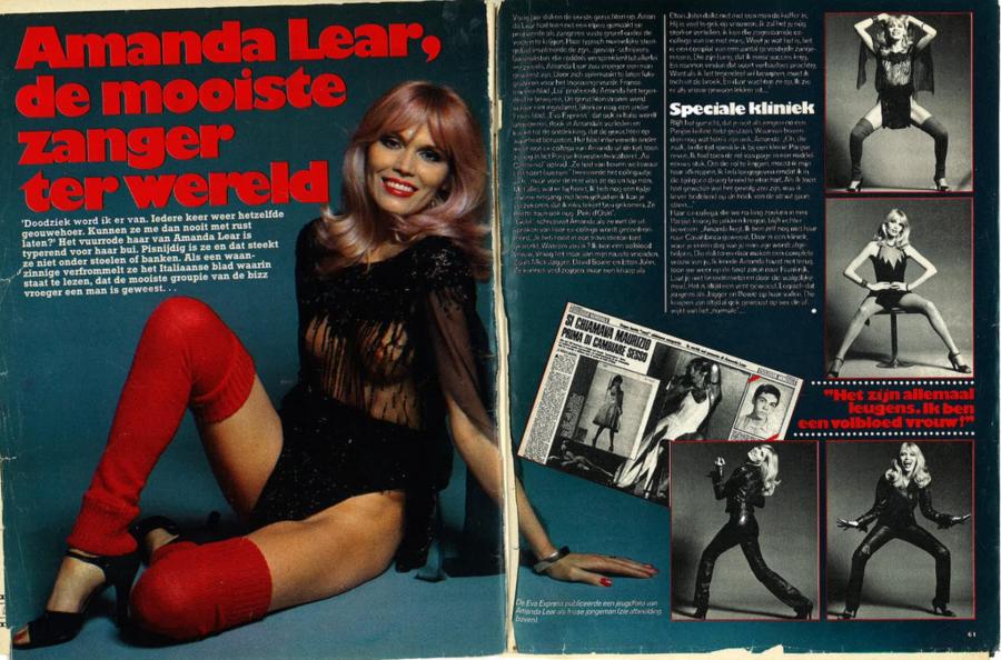 Amanda Lear soltando a voz