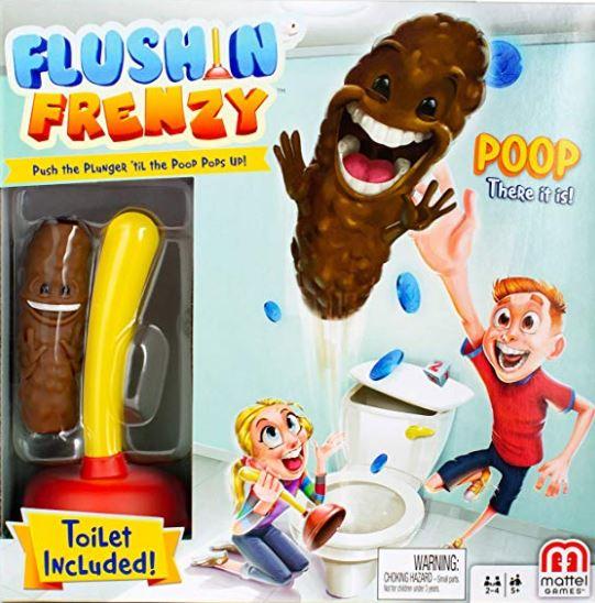 Flushin' frenzy: quem pegar o cocô primeiro, ganha