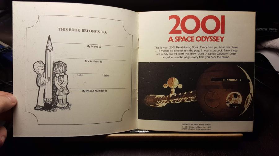 2001: Uma Odisseia no Espaço, em narração para crianças