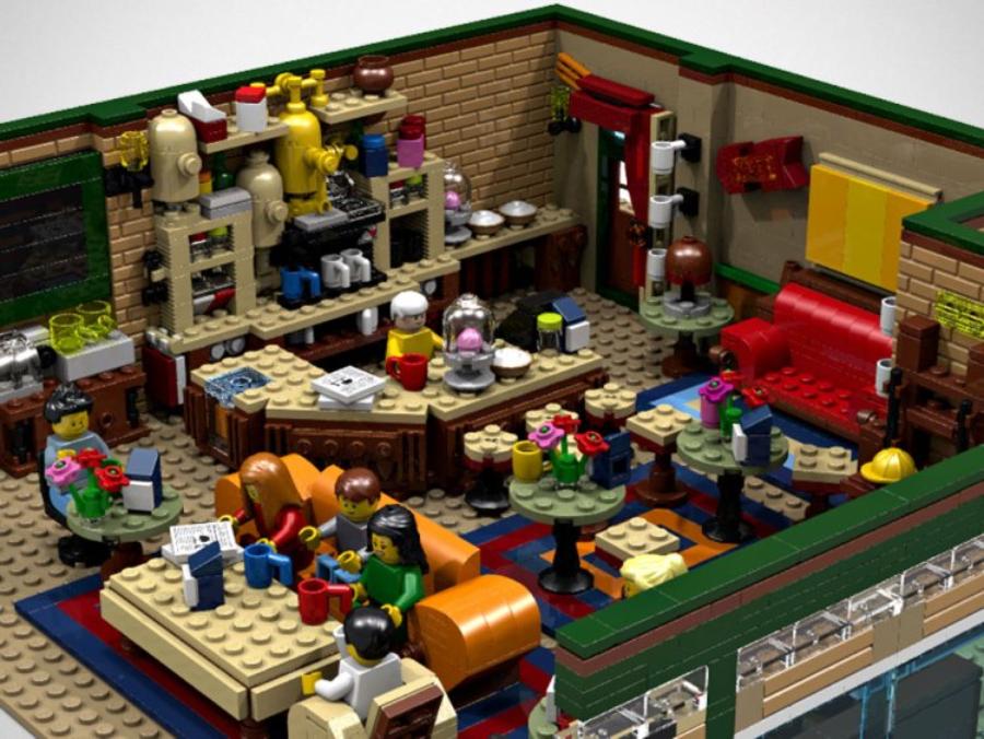 O Central Perk, café de Friends, recriado com mais de 1.700 peças de Lego