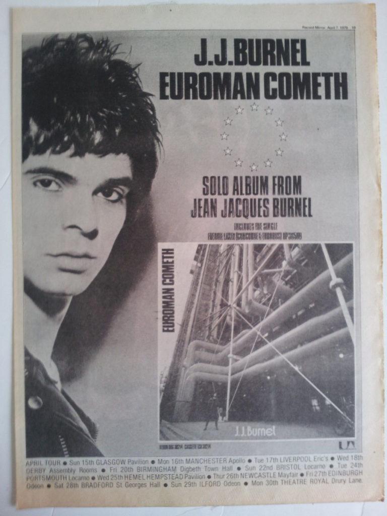 Euroman Cometh: o lado eletrônico de Jean-Jacques Burnel, dos Stranglers