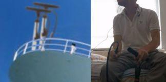 O tema de Titanic tocado com a bomba de encher o pneu da sua bike
