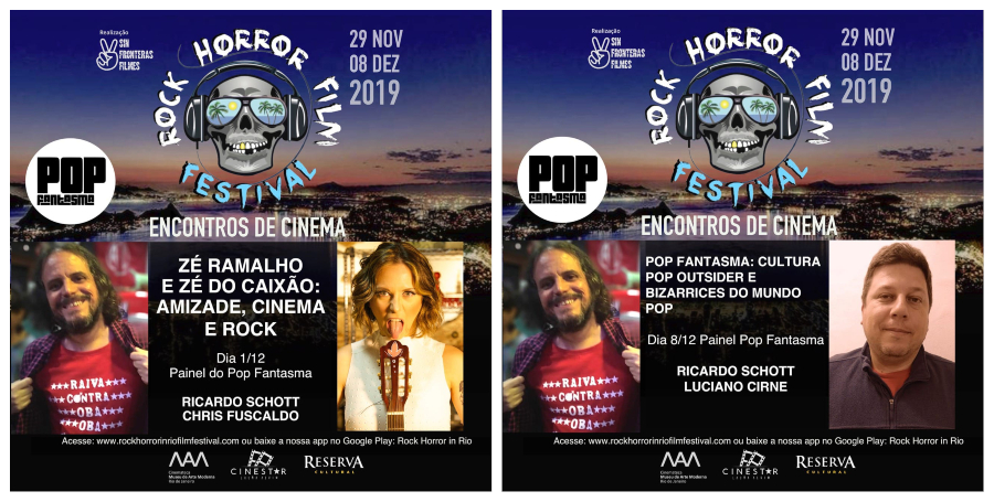 O POP FANTASMA vai estar no Rock Horror In Rio Film Festival