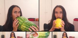 Um cara fez uma versão de All Star, do Smash Mouth, com um instrumento feito de... melão