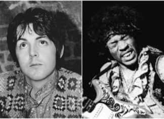 "Paul McCartney resenhando Jimi Hendrix para a ""Melody Maker"""