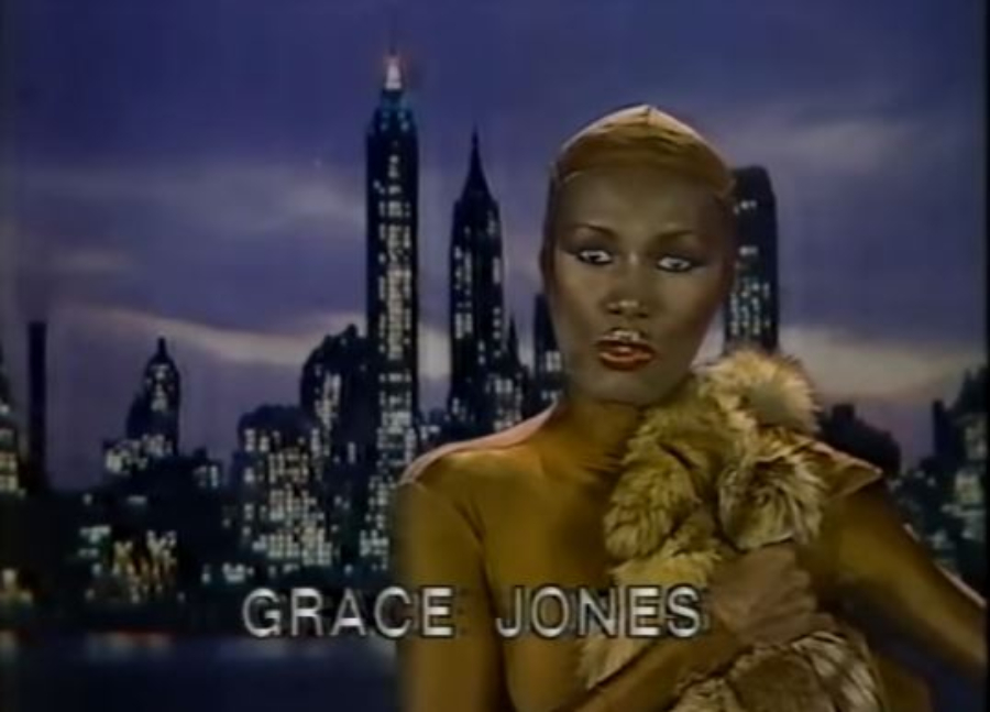 Grace Jones e Andy Warhol mandam um
