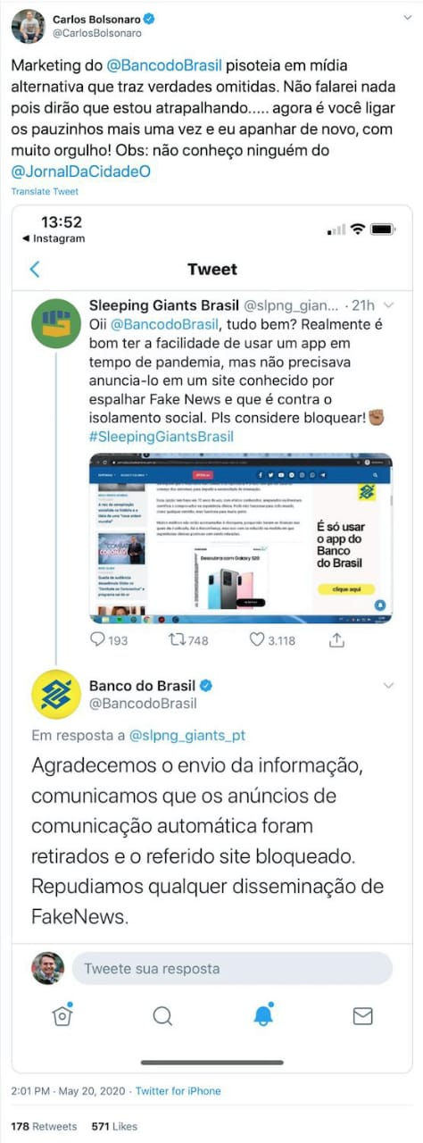 Sleeping Giants Brasil: o gigante acordou (e pisou nas fake news)