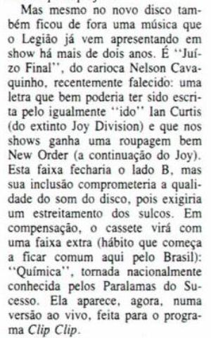 Legião Urbana canta Nelson Cavaquinho