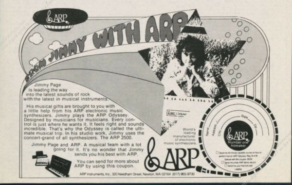 Jimmy Page, o mago do sintetizador
