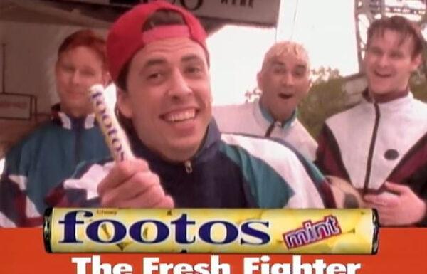 Quando jogavam Mentos nos Foo Fighters durante os shows