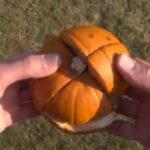 Quando criaram um cubo mágico de abóbora (?)