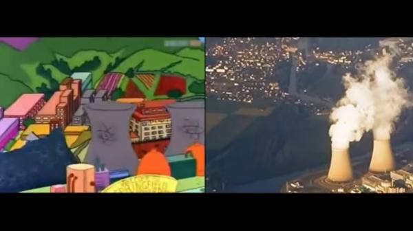 A abertura dos Simpsons refeita com imagens de arquivo