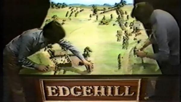 Batalhas históricas em miniatura na TV
