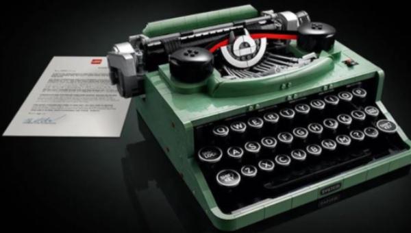 Vai uma máquina de escrever da Lego aí?
