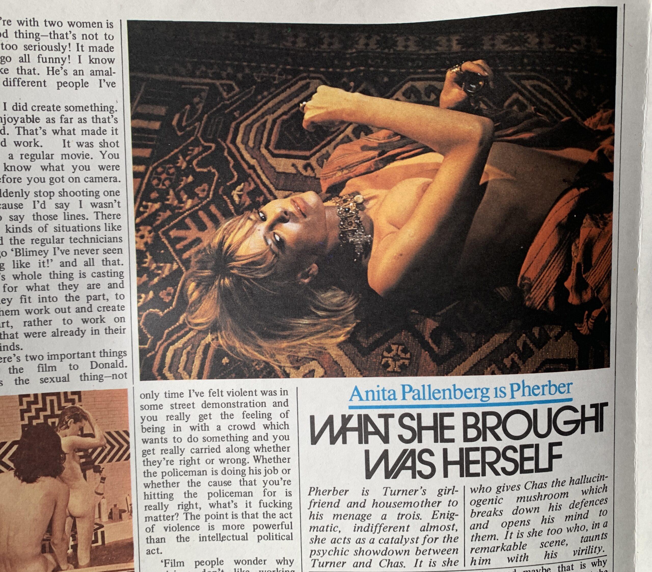 Quando a Time Out lançou um pôster de Performance, filme com Mick Jagger