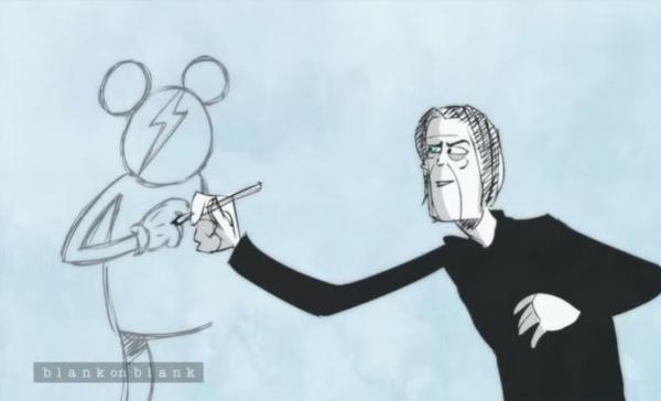 David Bowie em desenho animado, falando sobre Ziggy Stardust