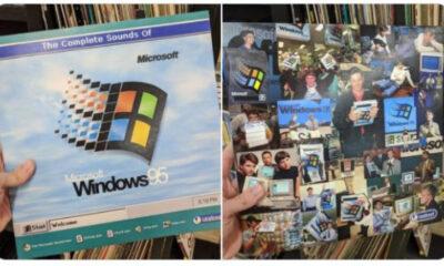 Fizeram um vinil com a trilha do Windows 95